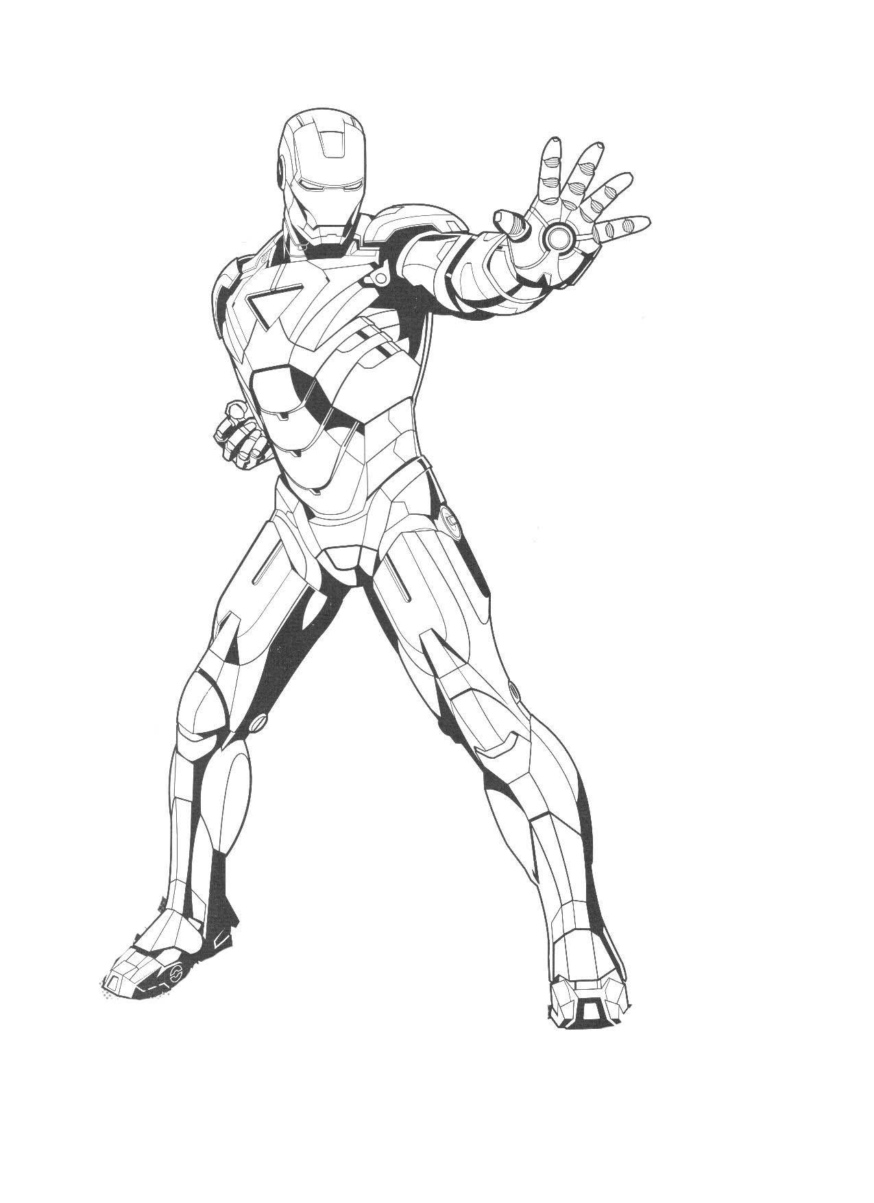 Coloriages Iron Man (Super-héros) - Coloriages à imprimer