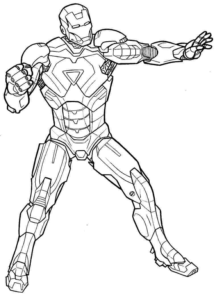 Coloriages Iron Man Super Heros Album De Coloriages