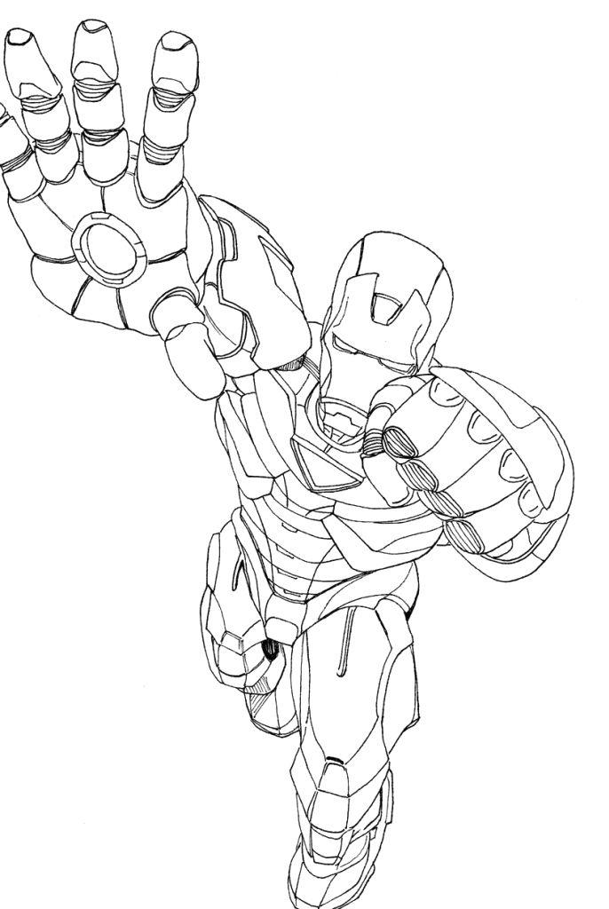 Coloriage Iron Man #111 (Super-héros) - Coloriages à imprimer