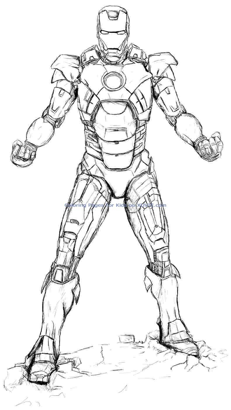 Coloriages Iron Man (Super-héros) - Album de coloriages