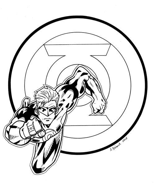 Coloriage Lanterne Verte #81318 (Super-héros) - Album de ...