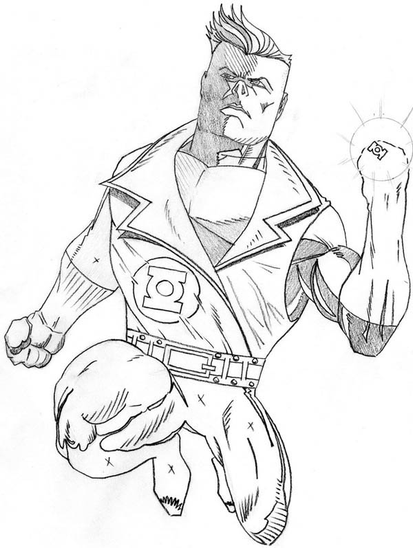 Coloriage Lanterne Verte #51 (Super-héros) - Coloriages à ...