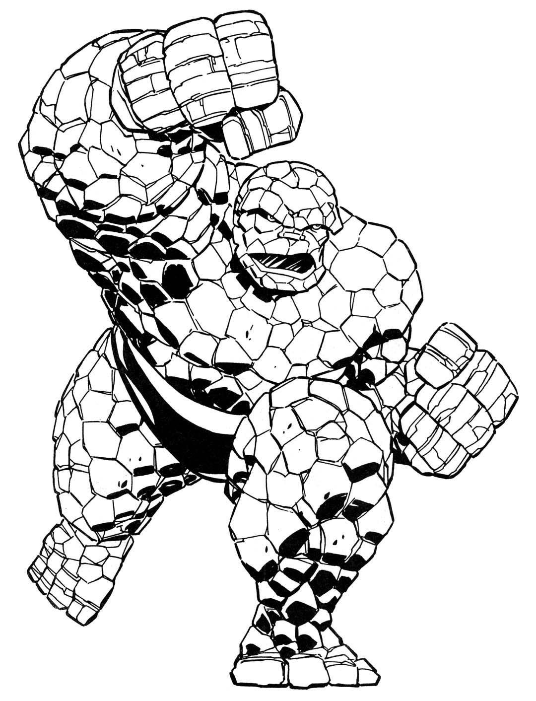 Coloriage Super Héros Marvel #79588 (Super-héros) - Album ...