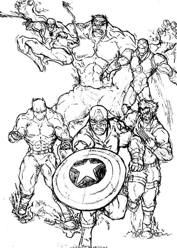 Coloriage Super Héros Marvel #79612 (Super-héros) - Album ...