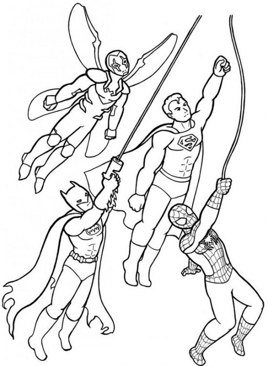 Coloriage Super Héros Marvel #79697 (Super-héros) - Album ...