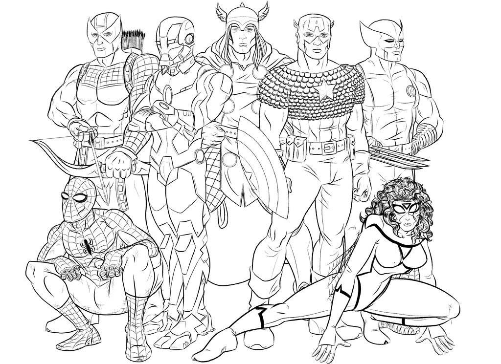 Coloriages Super Heros Marvel Super Heros Album De Coloriages