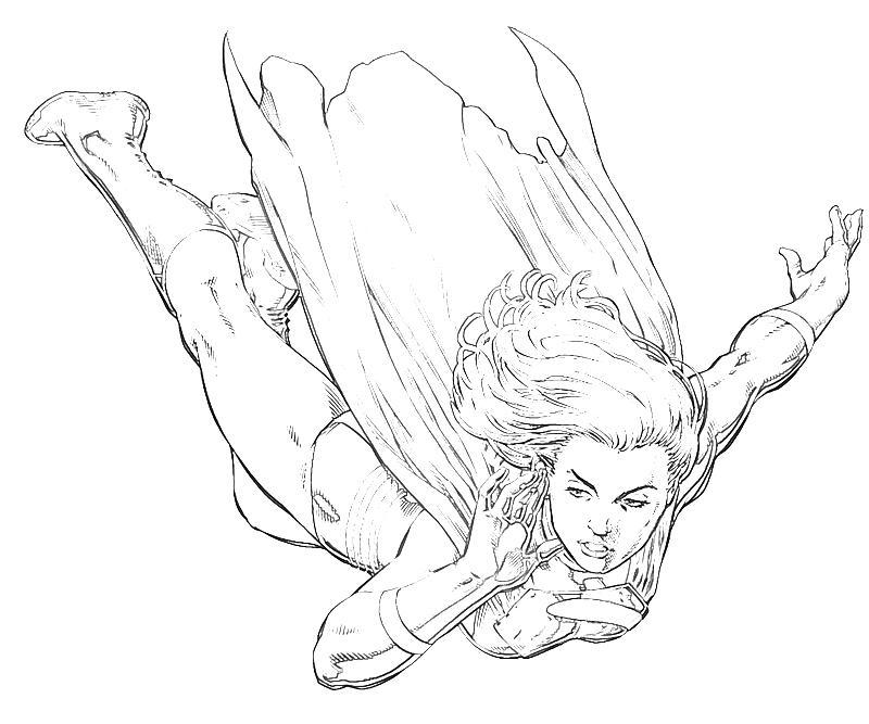 Coloriage Supergirl #10 (Super-héros) - Coloriages à imprimer