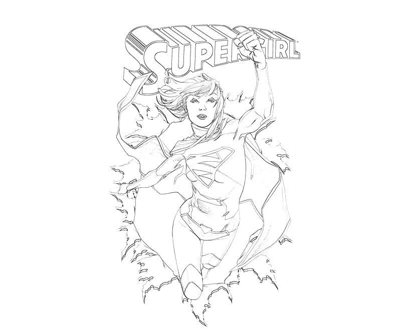 Coloriage Supergirl #16 (Super-héros) - Coloriages à imprimer