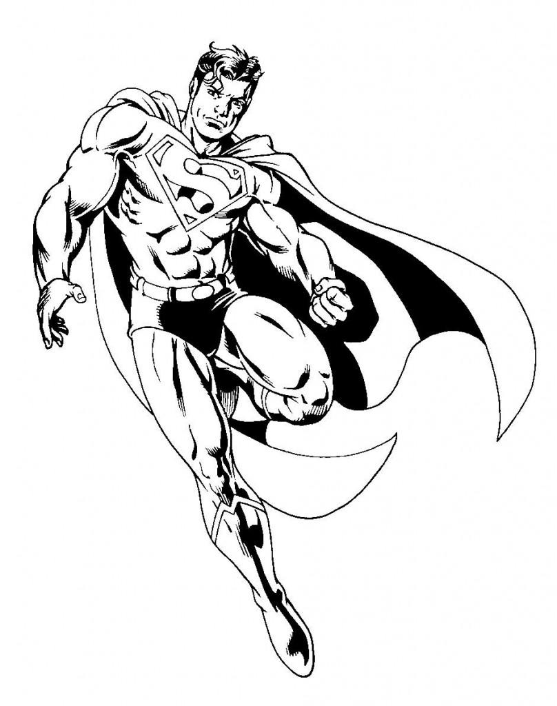 Coloriage Superman #35 (Super-héros) - Coloriages à imprimer