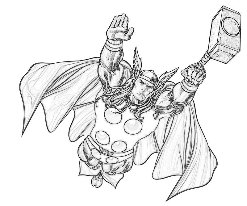 Coloriage Thor #75753 (Super-héros) - Album de coloriages