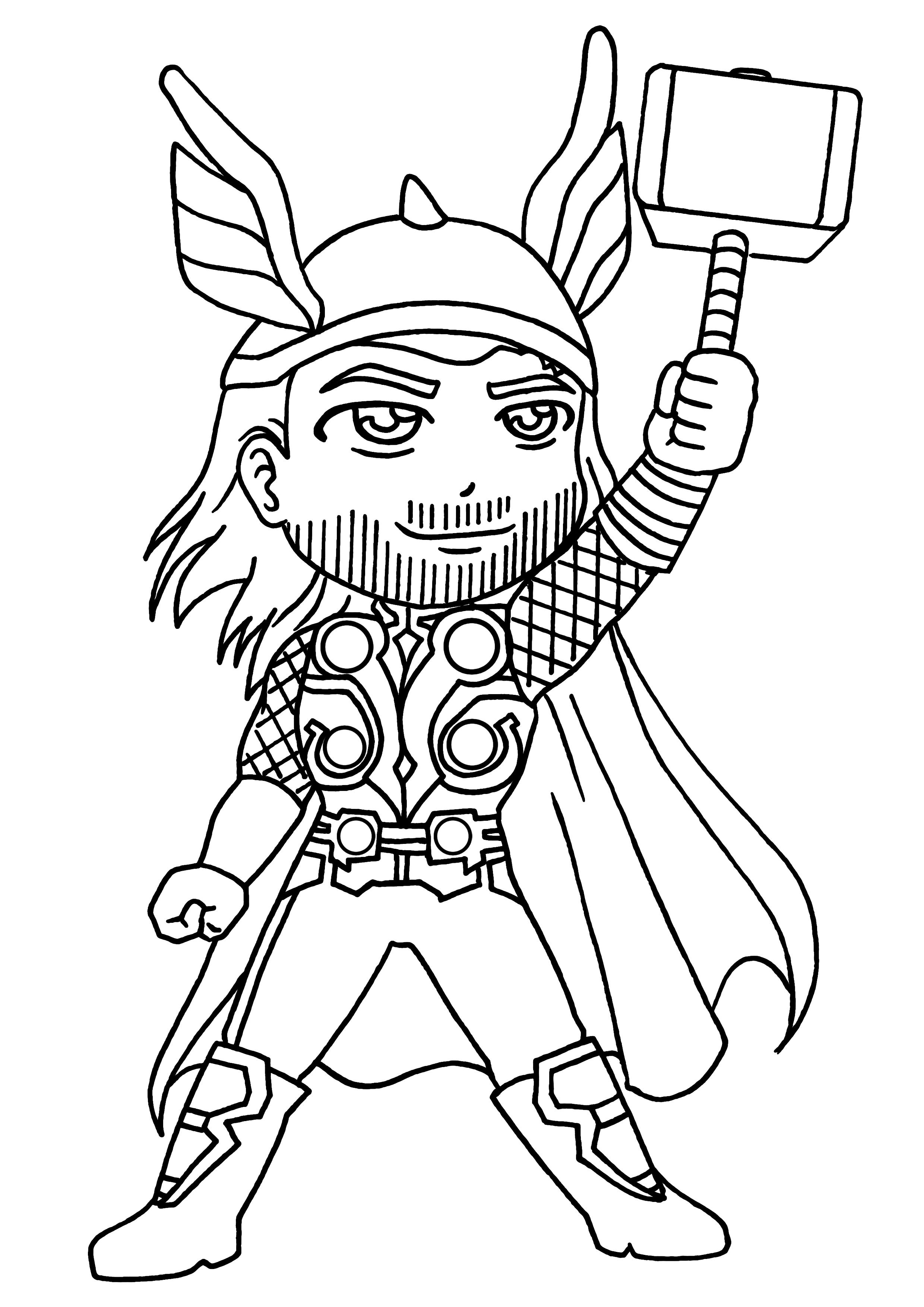 Coloriage Thor #75757 (Super-héros) - Album de coloriages