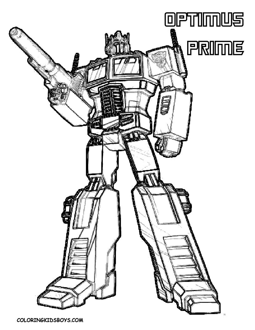 Coloriages Transformers Super Heros Album De Coloriages