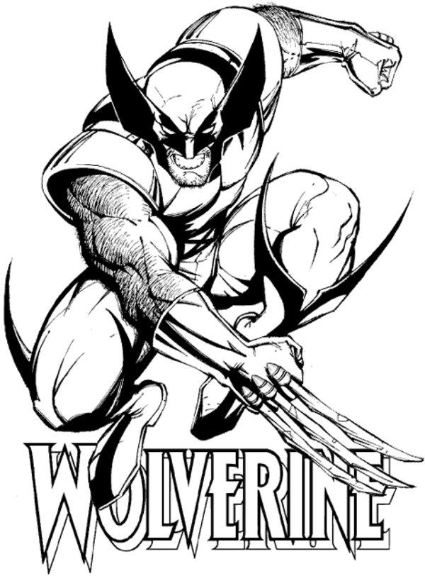 Coloriages Wolverine (Super-héros) - Coloriages à imprimer
