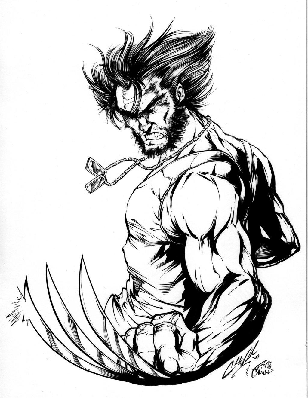 Coloriages Wolverine Super Heros Album De Coloriages