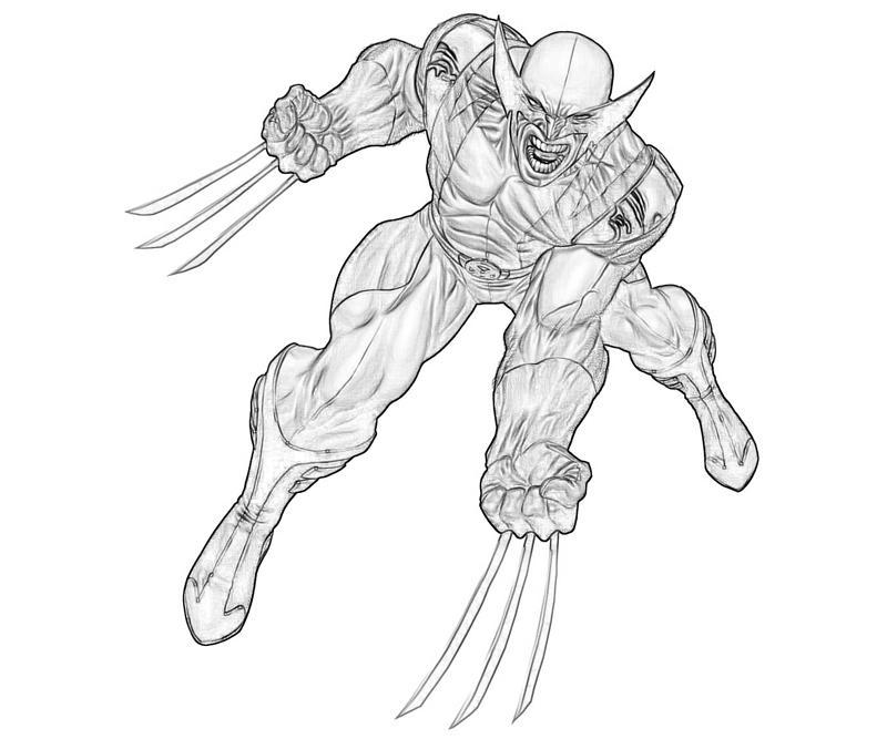 Coloriage Wolverine #74892 (Super-héros) - Album de coloriages