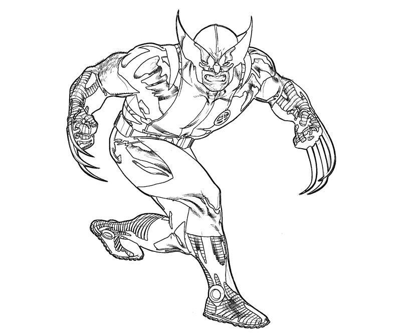 Coloriage Wolverine #74893 (Super-héros) - Album de coloriages