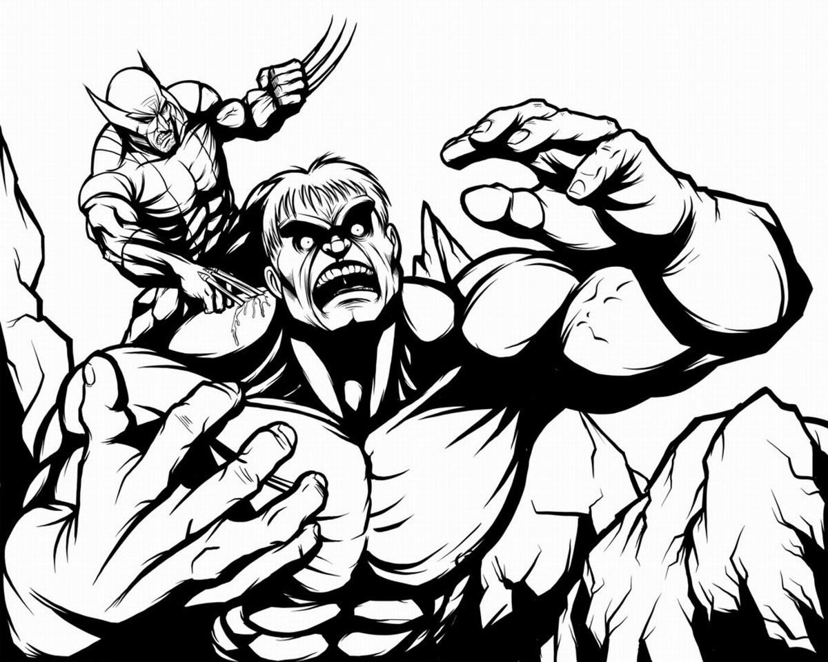 Coloriage Wolverine #73 (Super-héros) - Coloriages à imprimer
