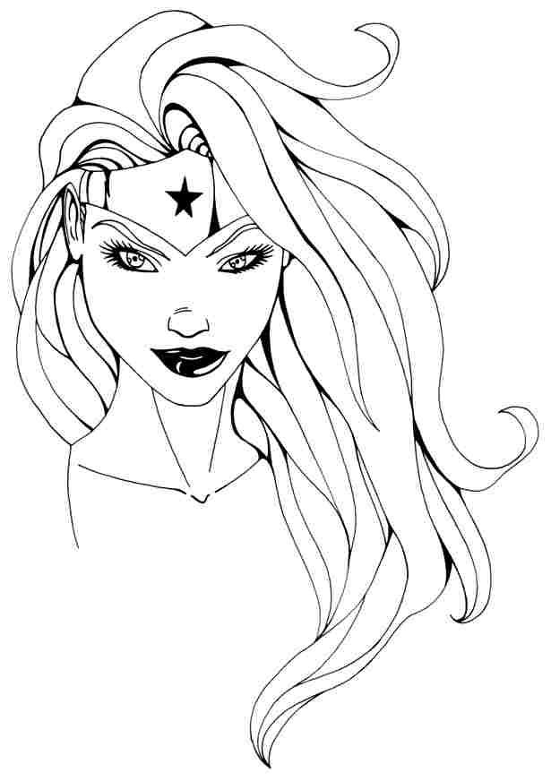 Coloriage Wonder Woman #74653 (Super-héros) - Album de ...