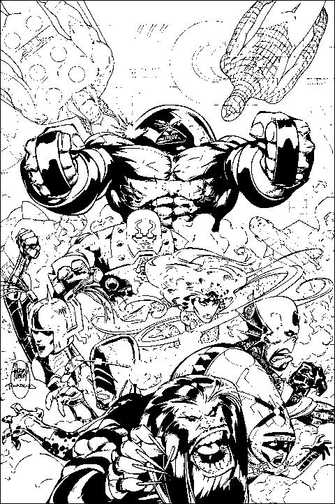 Coloriage X-Men #74396 (Super-héros) - Album de coloriages