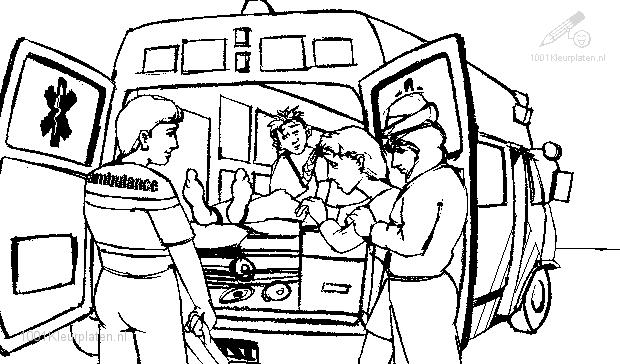 Coloriage Ambulance #136778 (Transport) - Album de coloriages