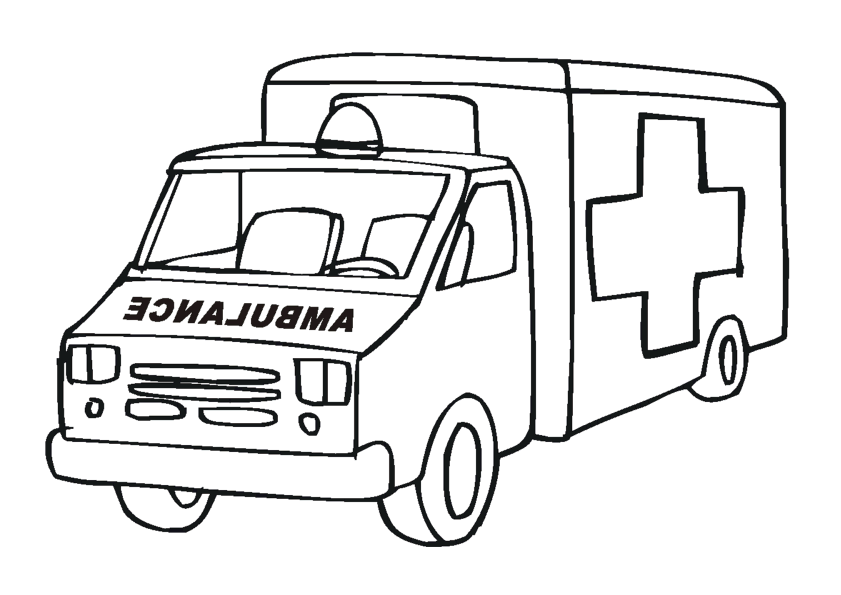 Coloriage Ambulance 136783 Transport Album De Coloriages