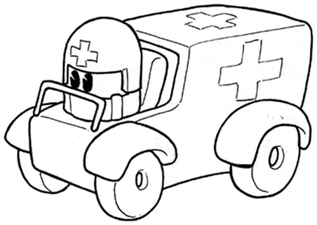 Coloriage Ambulance #136785 (Transport) - Album de coloriages