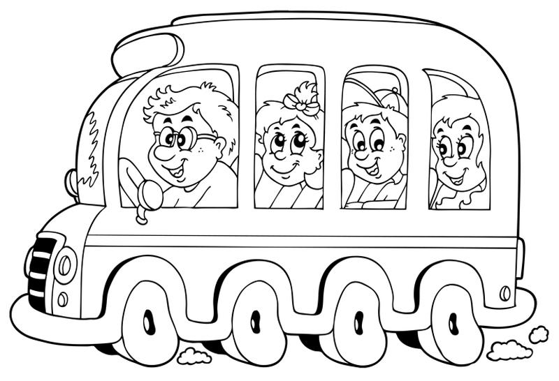 Coloriage Autobus / Autocar #135521 (Transport) - Album de ...
