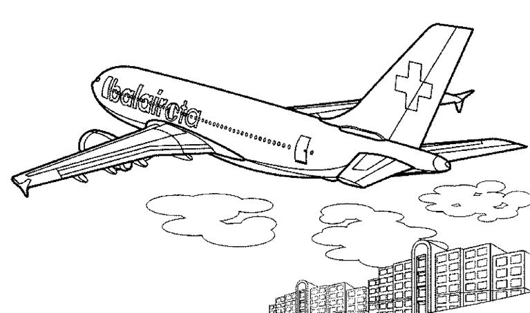 Coloriage Avion #134821 (Transport) - Album de coloriages