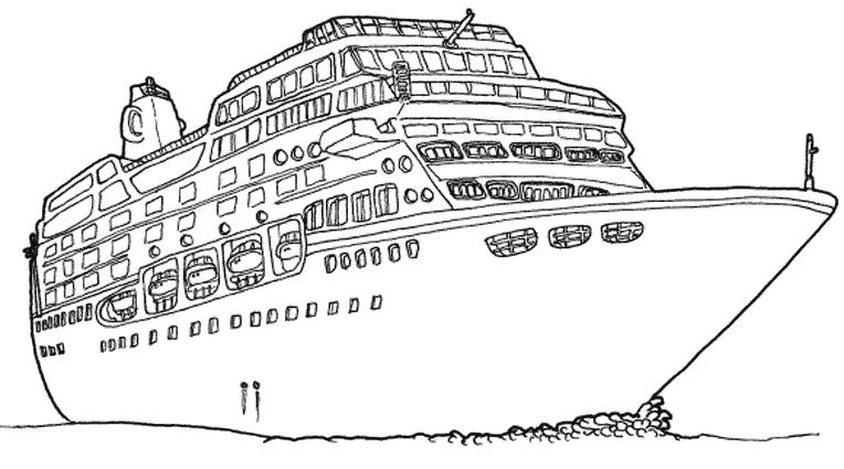 Coloriage Bateau Navire 137467 Transport Album De Coloriages