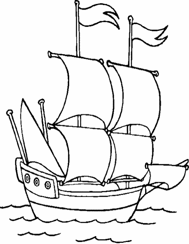 Coloriage Bateau / Navire #85 (Transport) - Coloriages à ...