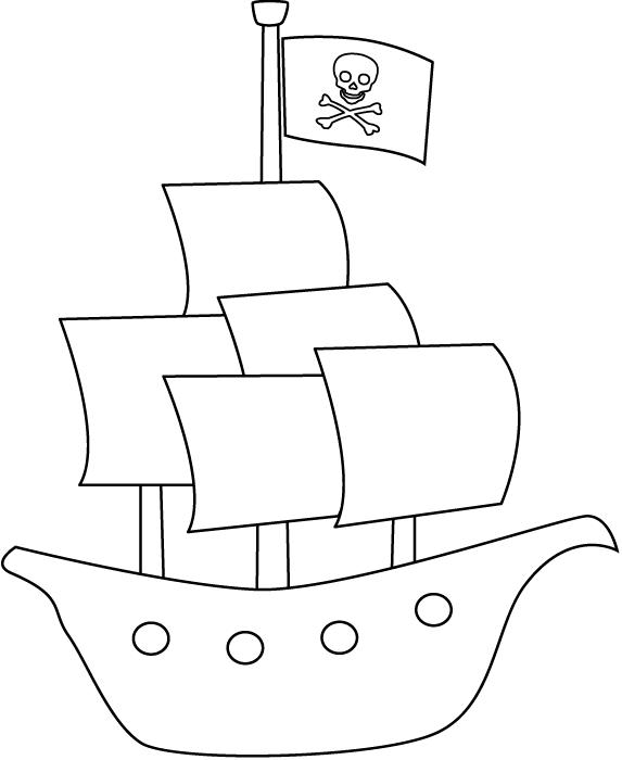 Coloriage Bateau Pirate 138216 Transport Album De Coloriages