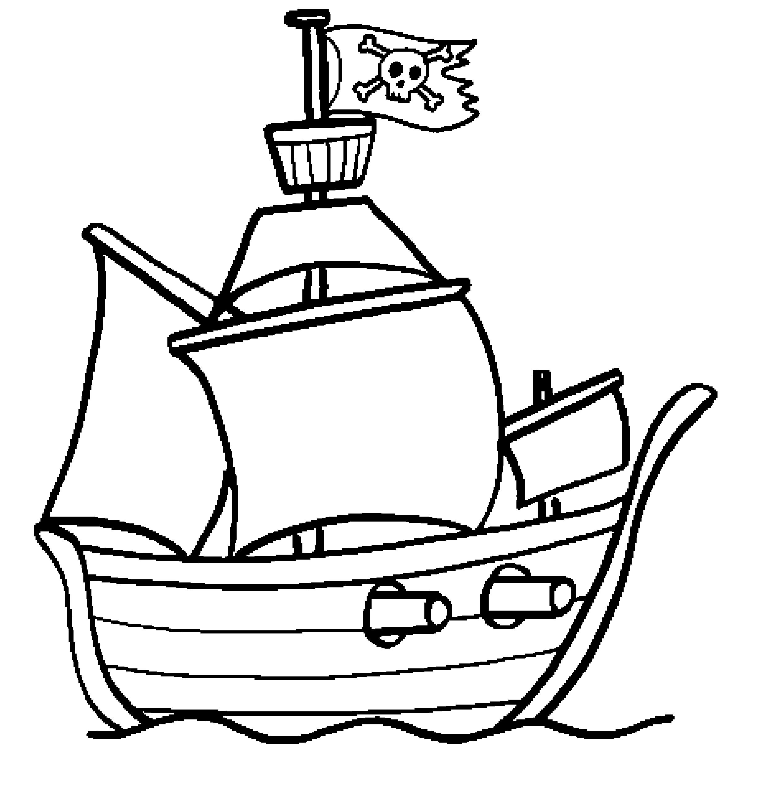 Coloriages Bateau Pirate Transport Album De Coloriages