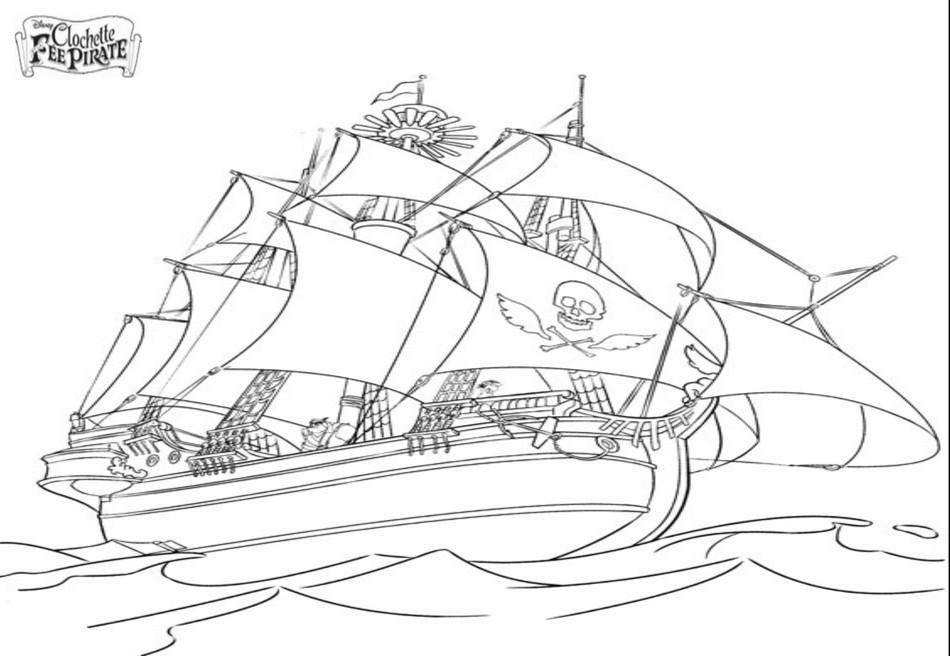 Coloriage Bateau Pirate 138241 Transport Album De Coloriages