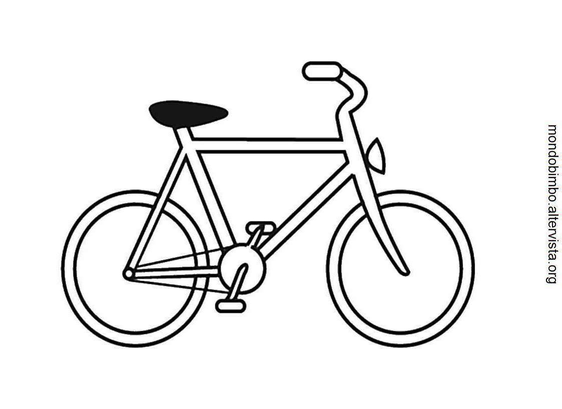 Coloriages Bicyclette Velo Transport Album De Coloriages
