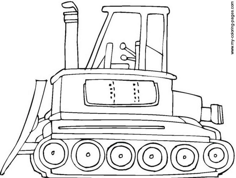 Coloriage Bulldozer / Pelle Mécanique #141688 (Transport ...