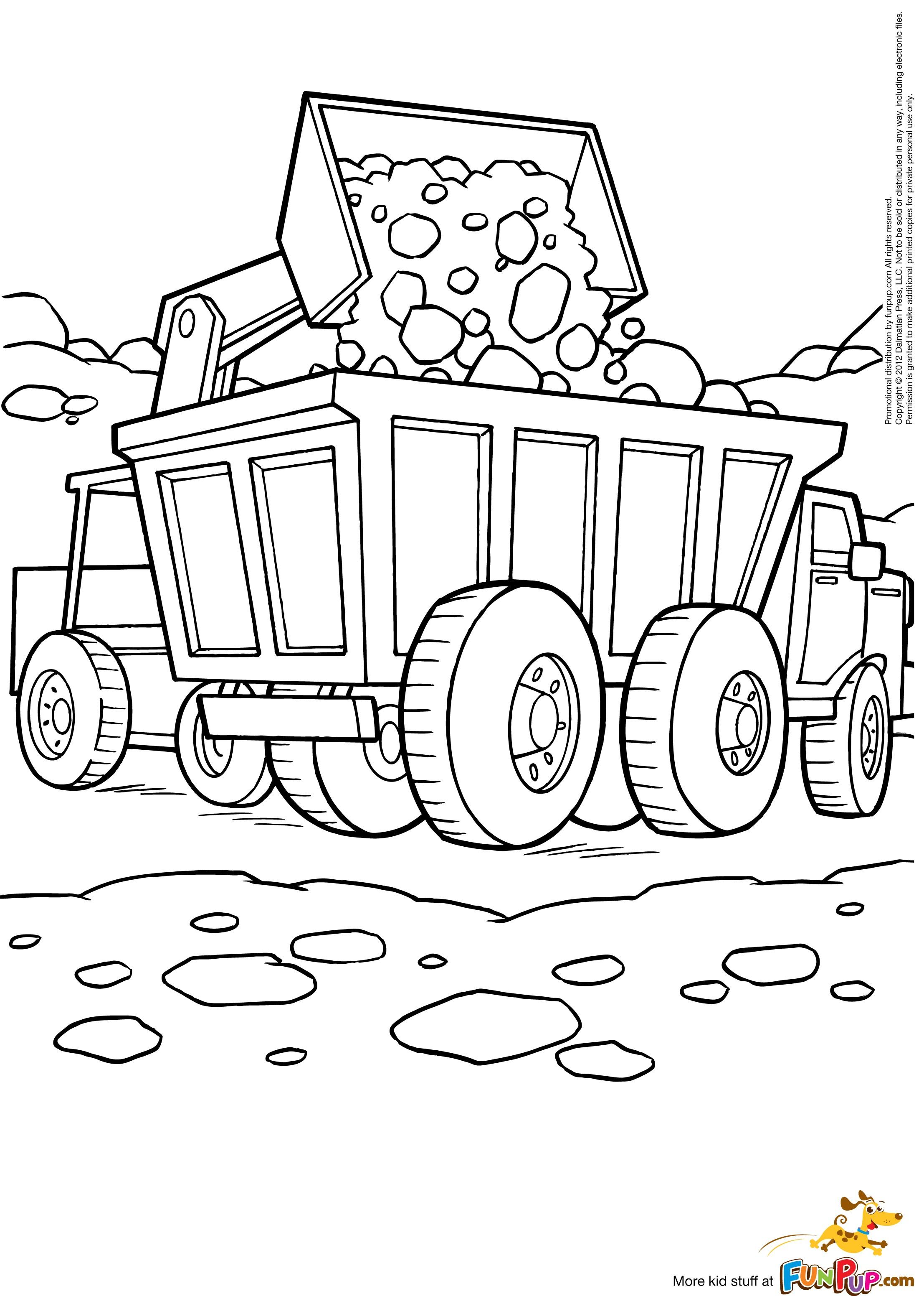 Coloriage Bulldozer / Pelle Mécanique 32 Transport – Album ...