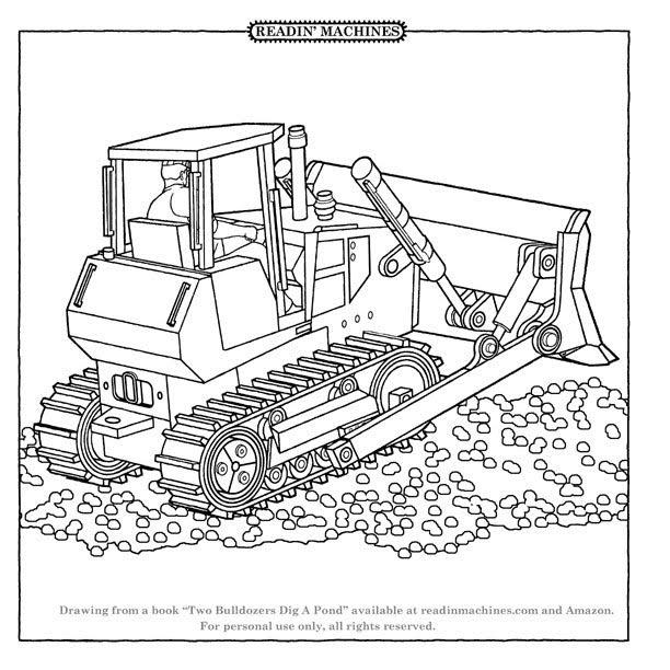 Coloriage Bulldozer / Pelle Mécanique #141704 (Transport ...