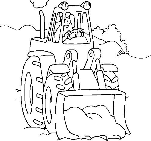 Coloriage Bulldozer / Pelle Mécanique #141769 (Transport ...