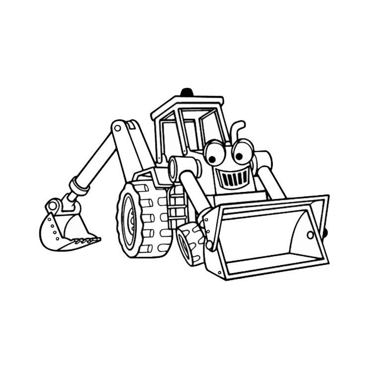 Coloriage Bulldozer / Pelle Mécanique #40 (Transport ...