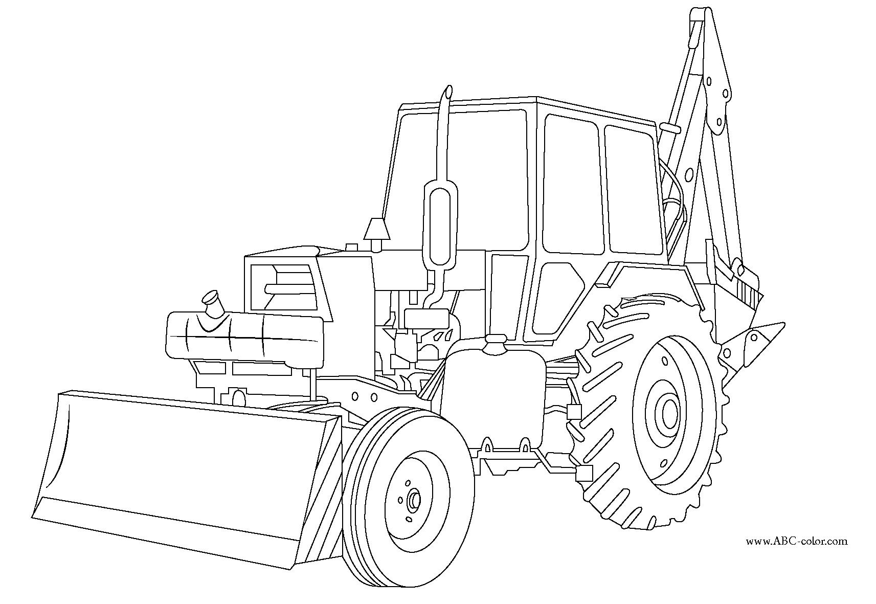 Coloriage Bulldozer / Pelle Mécanique #141773 (Transport ...