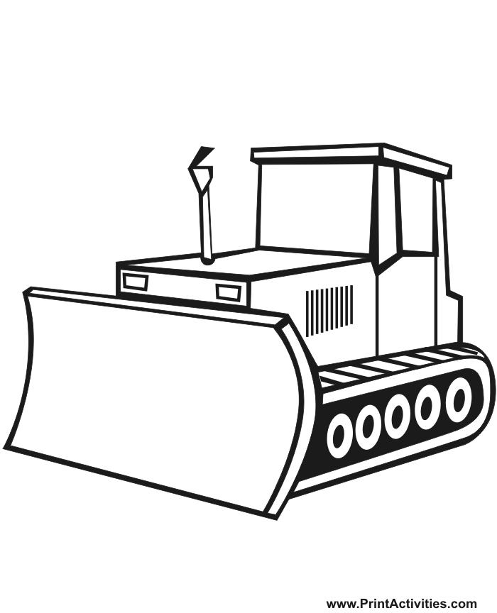 Coloriage Bulldozer / Pelle Mécanique #141781 (Transport ...
