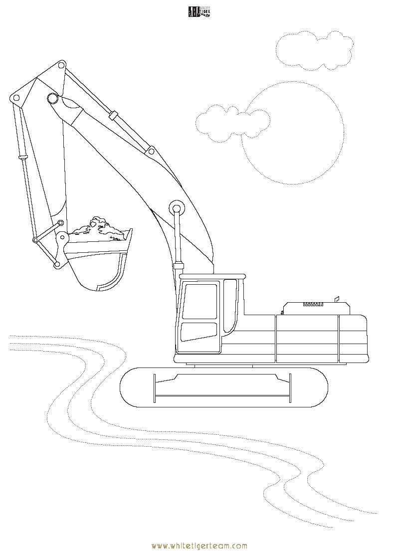Coloriage Bulldozer / Pelle Mécanique #141789 (Transport ...
