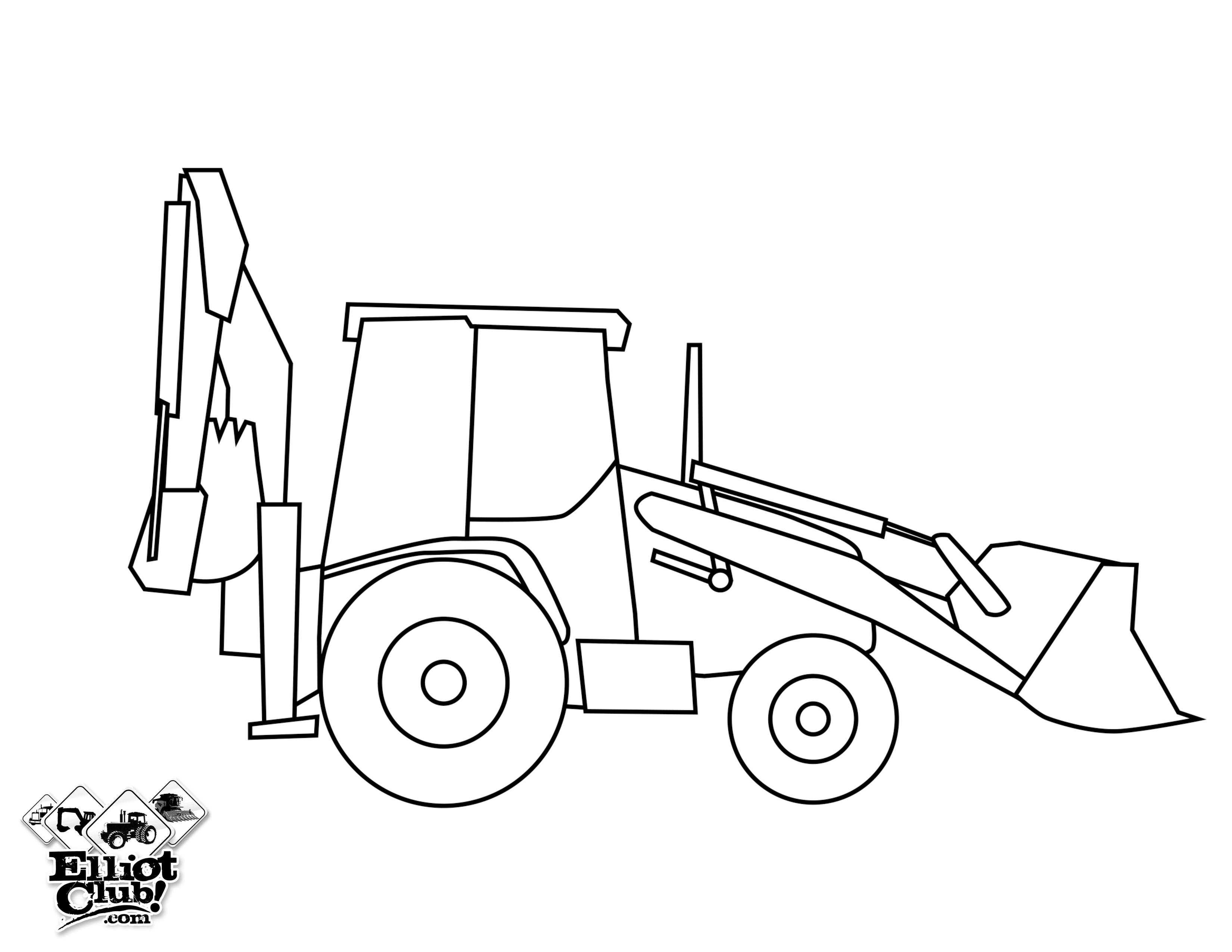 Coloriages Bulldozer / Pelle Mécanique Transport – Album de ...