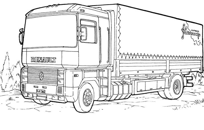 Coloriages Camion (Transport) - Page 2 - Coloriages à imprimer