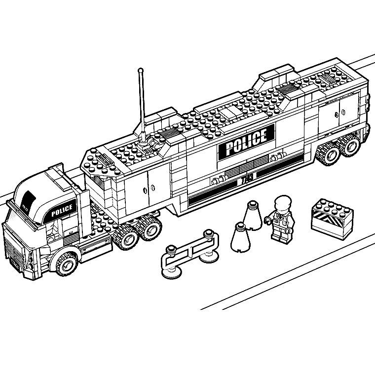 Coloriage Camion #135554 (Transport) - Album de coloriages