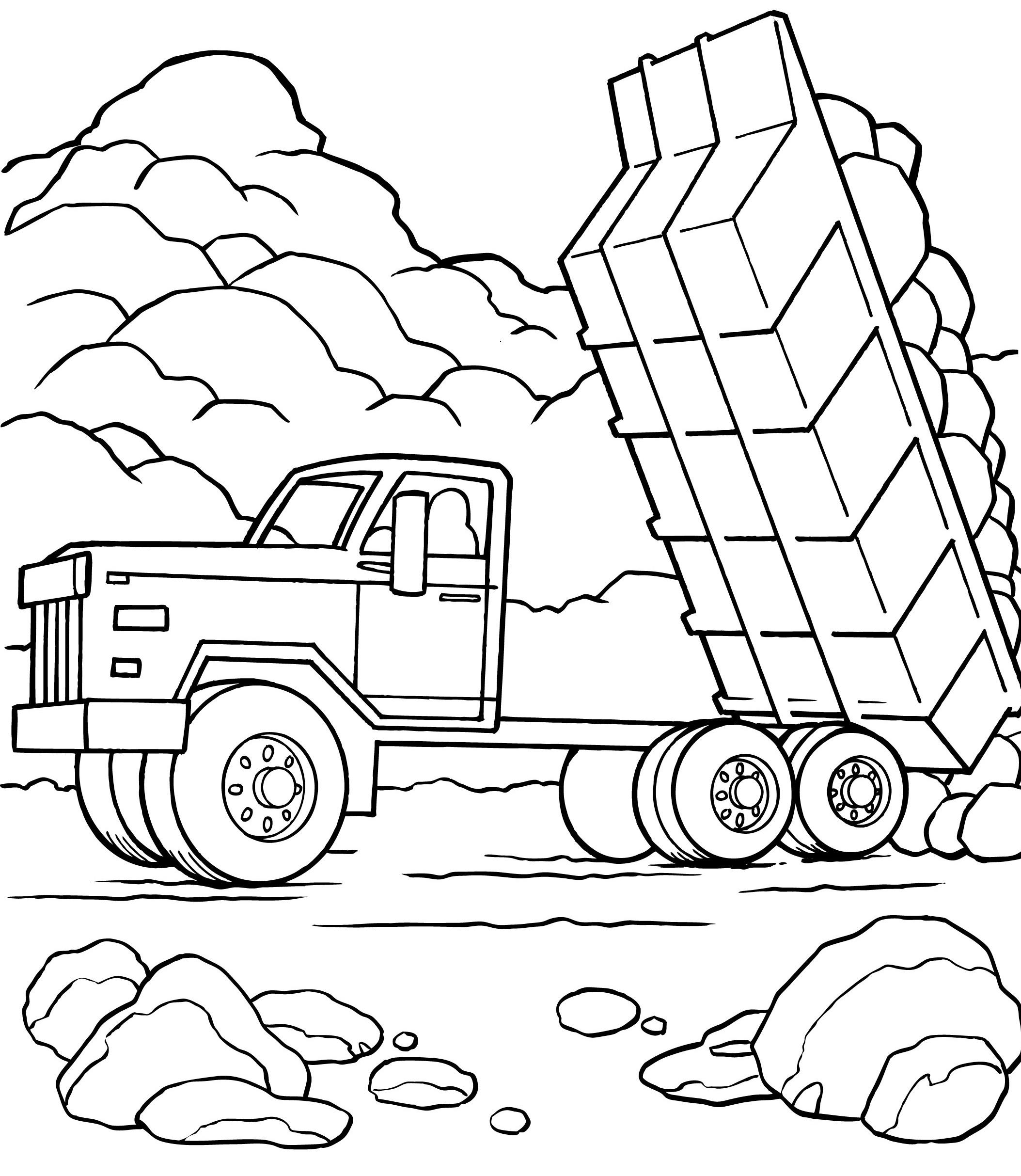 Coloriage Camion #135643 (Transport) - Album de coloriages