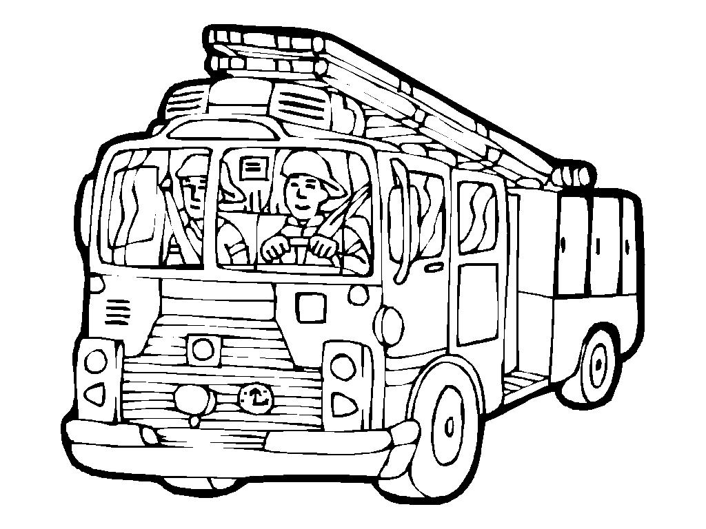 Coloriage Camion de Pompier #135782 (Transport) - Album de ...