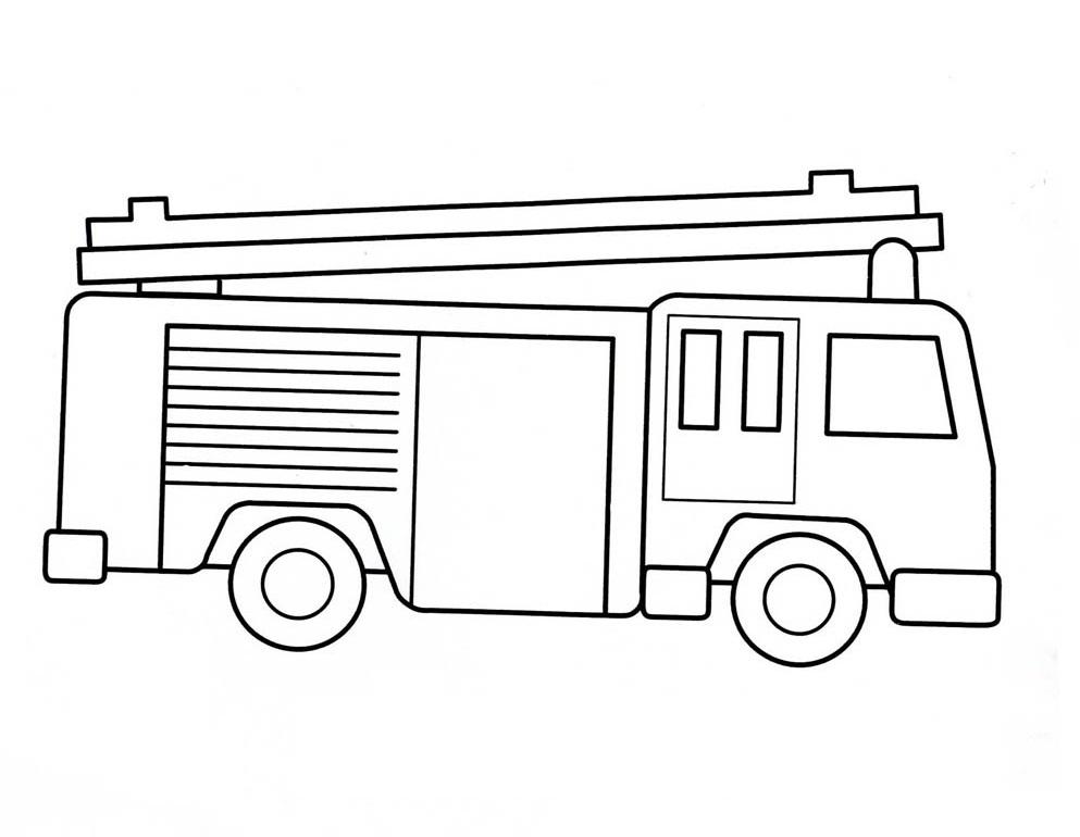 Coloriage Camion de Pompier #6 (Transport) - Coloriages à ...