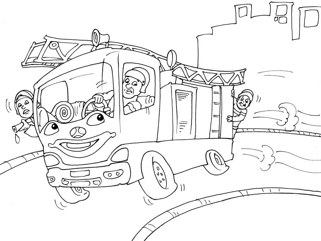 Coloriage Camion de Pompier #16 (Transport) - Coloriages à ...