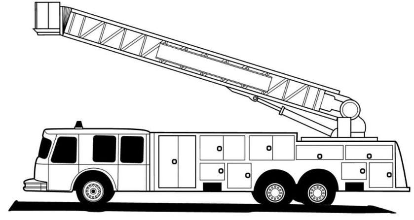 Coloriage Camion de Pompier #135799 (Transport) - Album de ...
